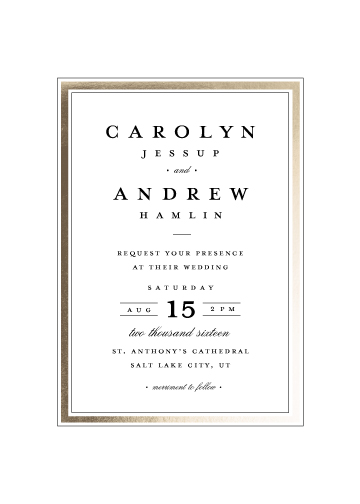 wedding invitations - Classic label by Stacey Meacham