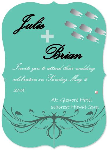 wedding invitations - Blue Clam by Life is Art