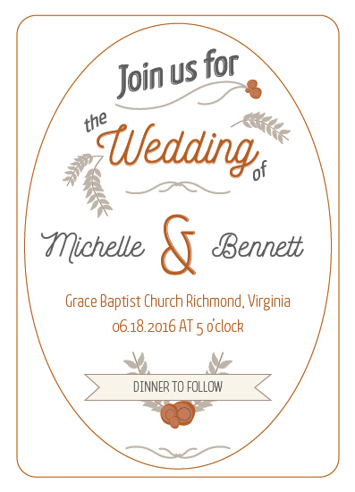 wedding invitations - Rustic Fall by Hollie Shepard