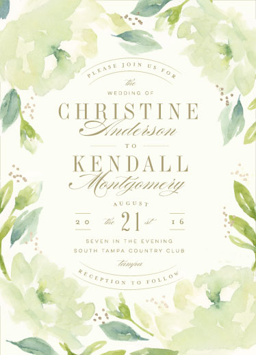 wedding invitations - Southern Garden by Lori Wemple