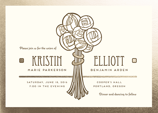 wedding invitations - Deco Bouquet by dani guralnick
