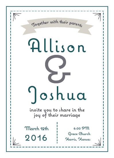 wedding invitations - Retro Modern by Hollie Shepard