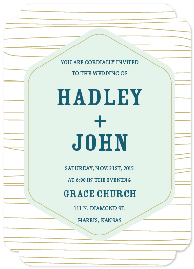 wedding invitations - Abstract Line by Hollie Shepard