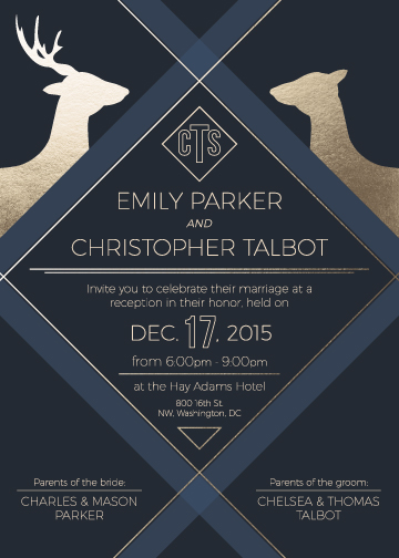 wedding invitations - Deerly Engaged by Christopher Patty