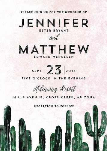 wedding invitations - cacti by Cass Loh