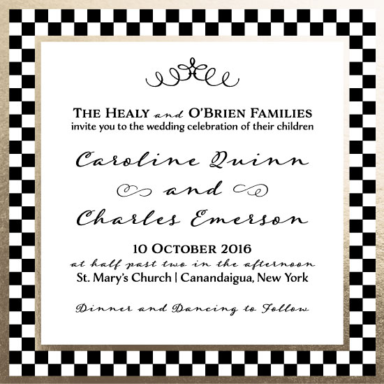 wedding invitations - Classic Check by Kristin Healy