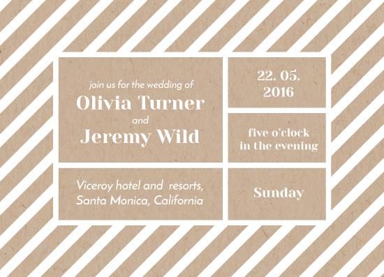 wedding invitations - Bold stripes by Leysan Shayakbirova