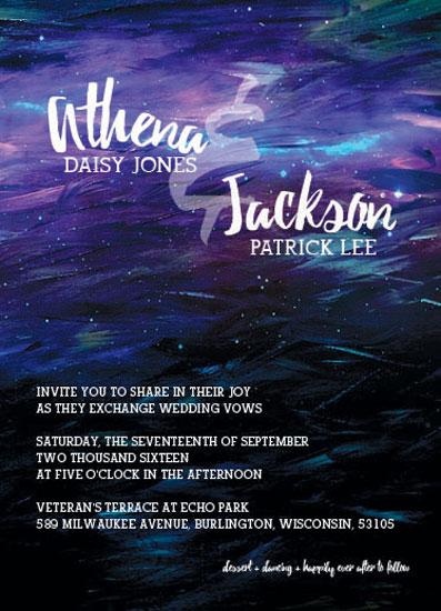 wedding invitations - Painted Cosmos by Melissa DeBuck