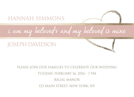wedding invitations - Solomon's Song by Renee Rosenfeld