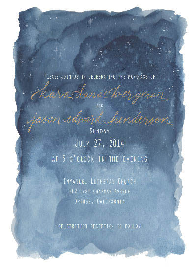 wedding invitations - midnight stars by Coley Kuyper