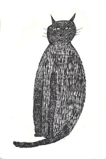 art prints - Black Cat by Katie Short