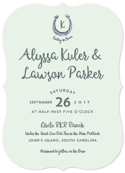 Wedding Invitations Lucky In Love Horseshoe At