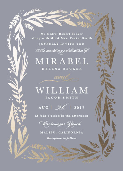 wedding invitations - Florabel by Olivia Raufman