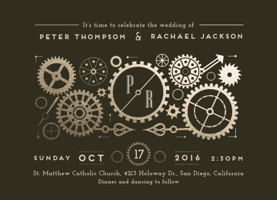 wedding invitations - Steampunk by Katie Zimpel
