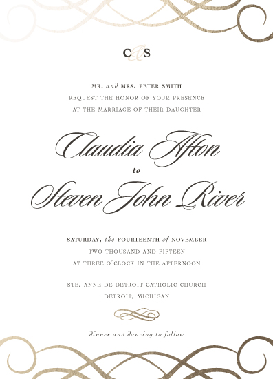 wedding invitations - Elegant Minimalist by Kirsten Schwenzer