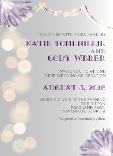wedding invitations - Lights by Katie Weber