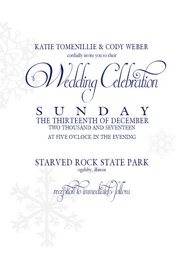 wedding invitations - Snow Frost by Katie Weber