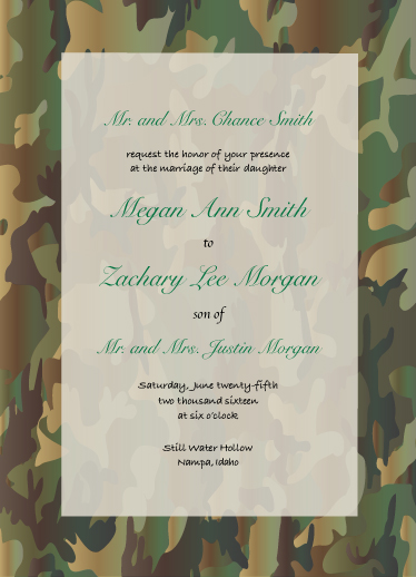 wedding invitations - Everything Camouflage by Echo Freeman