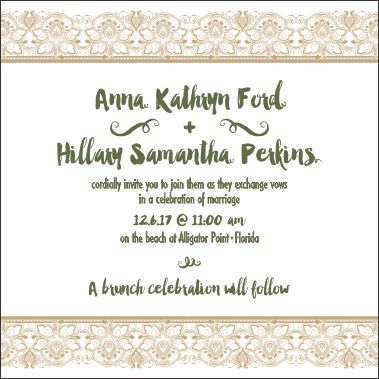 wedding invitations - Hillary by Darcy Sang