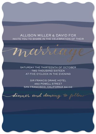 wedding invitations - Bold Blues by Emily Andrassy