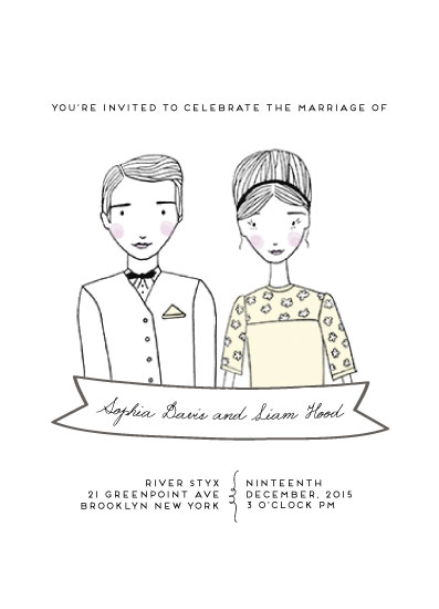 wedding invitations - Simplistic Sixtys Mod by Chrysta Totten