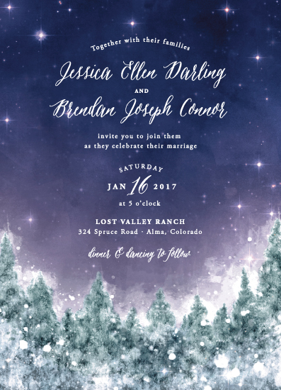 wedding invitations - Twilight Snow by Colleen Michele