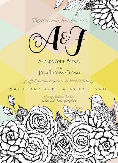 wedding invitations - Color me in! by Gaby Herrera