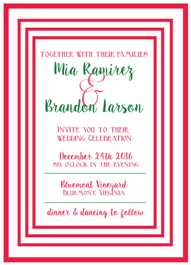 wedding invitations - holiday cheer by Pippi and Penelope