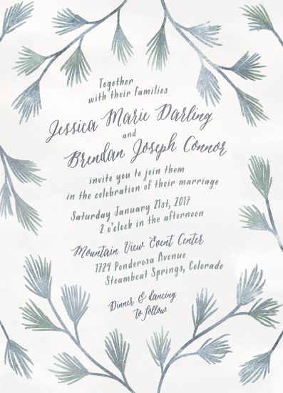 wedding invitations - Frosted Pines by Colleen Michele