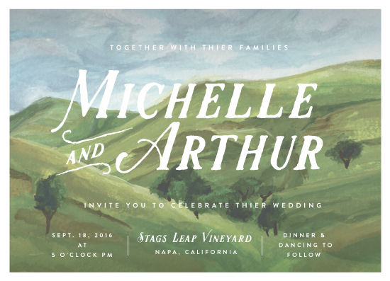 wedding invitations - Rolling Hills by Shiny Penny Studio