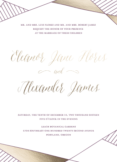 wedding invitations - Lines of Love by Yancey Towne