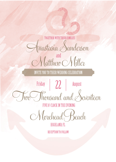 wedding invitations - Anchored by Love by Maygen Kubina