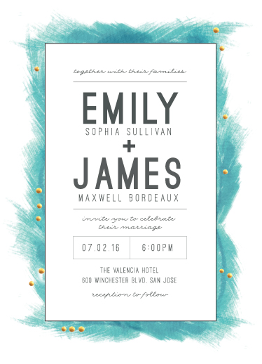 wedding invitations - Feathered Frame by Maria Hilas Louie
