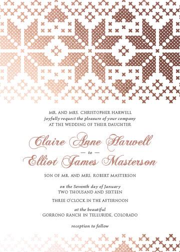 wedding invitations - Stitched in Love by Kirsten Blakeman