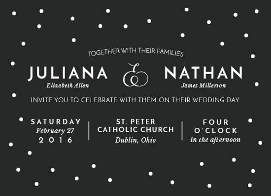 wedding invitations - dapper dot by Lauren Gerig