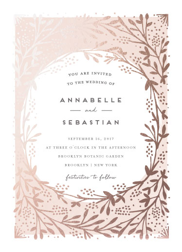 wedding invitations - le feuillage by Bonjour Paper