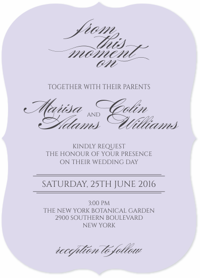wedding invitations - Lilac love by Desislava Hristova