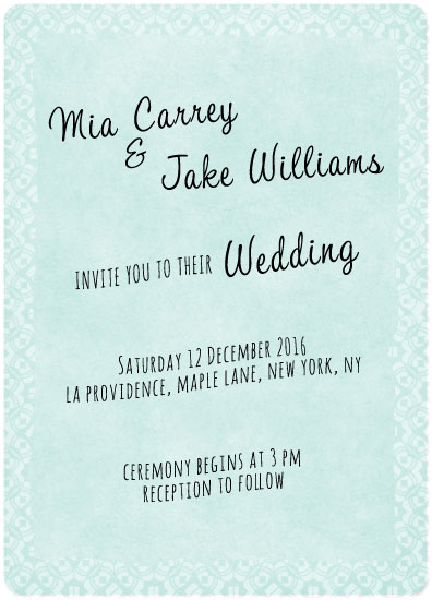 wedding invitations - Winter lace by Anja de Lange