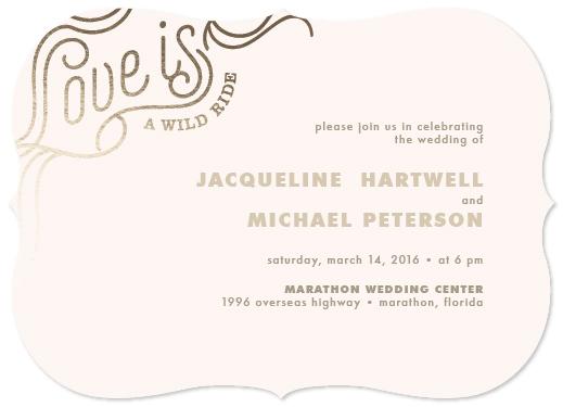 wedding invitations - Wild Ride by carohug