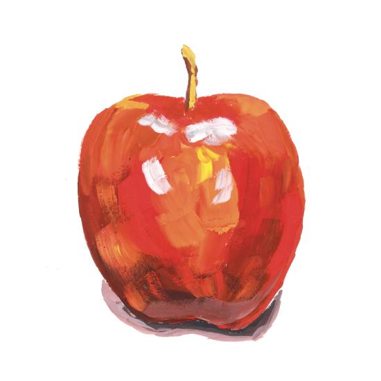 art prints - Gouache apple by Leysan Shayakbirova