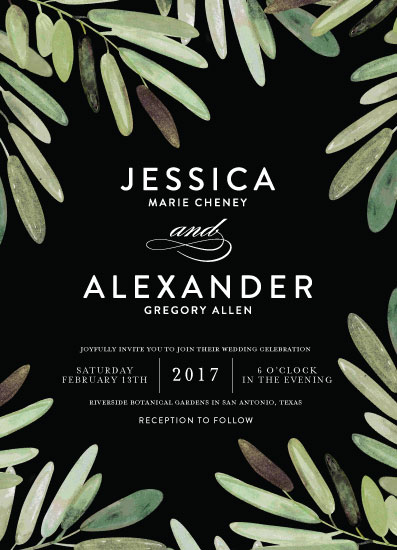 wedding invitations - parting branches by Haley Warner