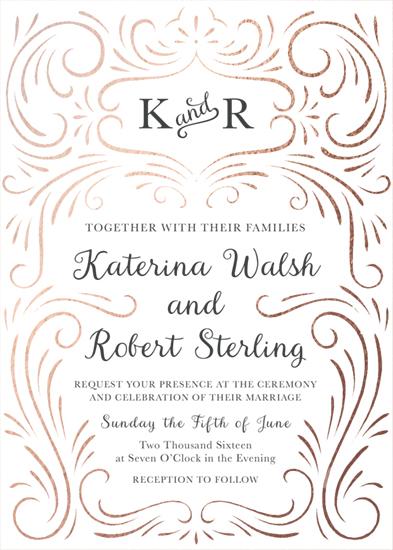 wedding invitations - Elegant Swirls by Megan Tamaccio