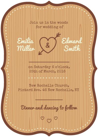 wedding invitations - Into the woods by Leysan Shayakbirova