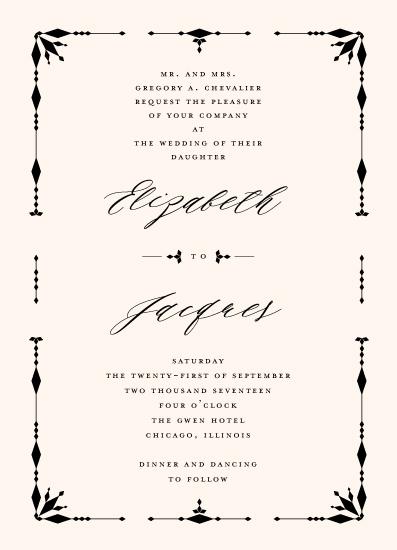 wedding invitations - Classic Deco Diamonds by fatfatin