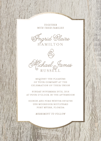 wedding invitations - Birch by Kelly Nasuta
