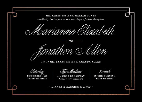 wedding invitations - Elegant Lines by Colleen Michele