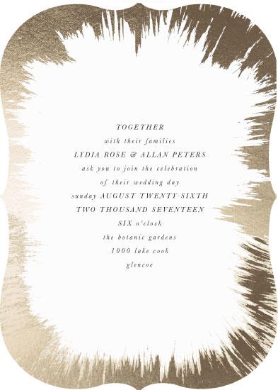 wedding invitations - Gold Brush by Baumbirdy