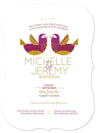 wedding invitations - scandinavian lovebirds by dani guralnick