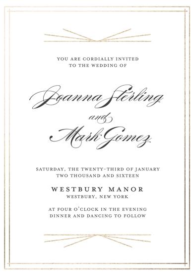 wedding invitations - Elegant Deco by Gray Star Design