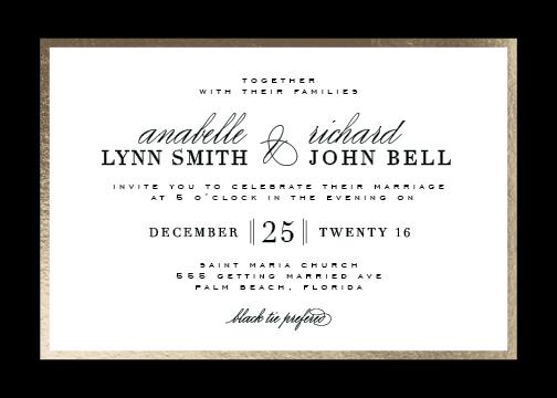 wedding invitations - Elegant Type by Julia Hall
